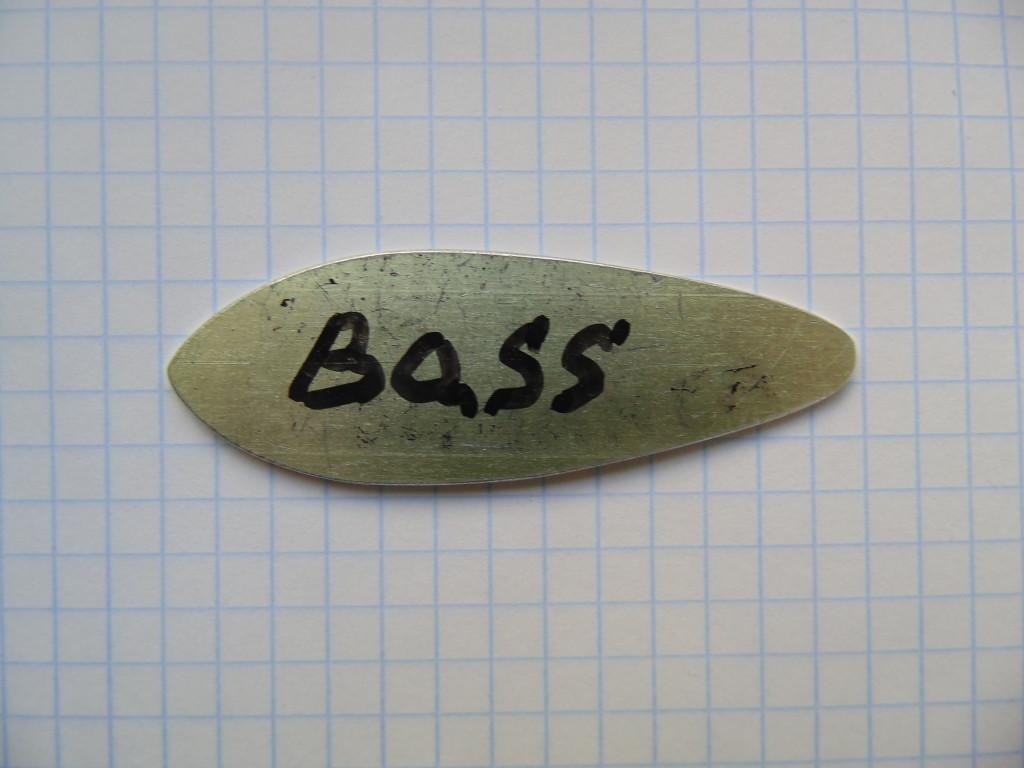 Шаблон блесны Bass