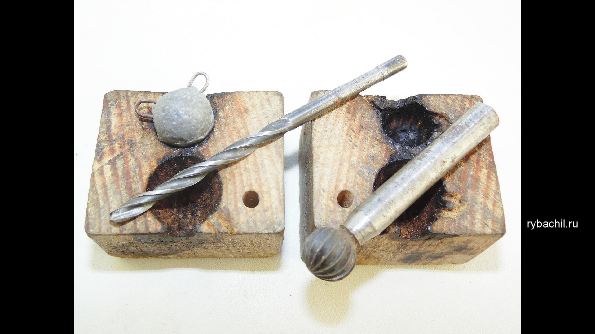Формы для литья грузил - изготовление своими руками из гипса и 85